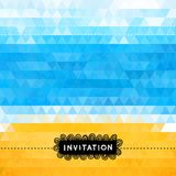Triangle summer invitation with sea and beach Stock Photography