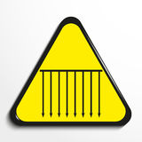 Triangle with a symbol `spears from the ceiling`. Vector illustration. Royalty Free Stock Photography
