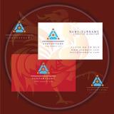 Triangle tech business card logo. Icon vector vector illustration