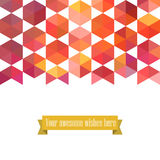 Triangle template background, triangle background, vector illust Stock Image