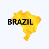 Triangle texture Brazil map Stock Images