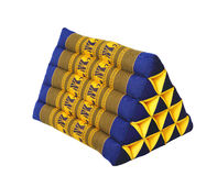 Triangle Thai pillow. Tradition native Thai style pillow royalty free stock photography