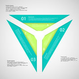 Triangle from three separate parts Stock Images