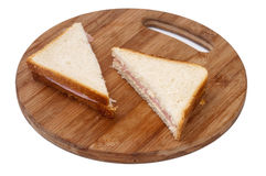 Triangle toast sandwiches with ham Stock Image