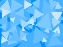 Triangle Tones Blue. An abstract digital pattern created with triangles of various sizes, in shades of blue Royalty Free Stock Photography
