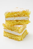 Triangle tower of sponge cookies Royalty Free Stock Photo