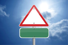 Triangle traffic sign Stock Image