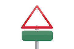 Triangle traffic sign Stock Photos