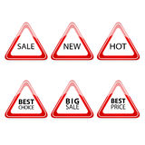 The triangle traffic sign for sale Stock Image