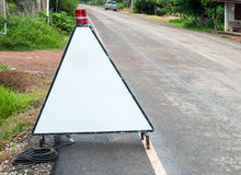 Triangle traffic stand Stock Photography