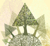 Triangle tree landscape Stock Photos