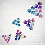Triangle triangle background, geometric illustration with plenty Royalty Free Stock Photography