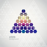 Triangle triangle background, vector illustration with plenty sp Stock Image
