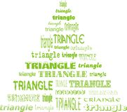 Triangle of triangles. Shape of a triangle made of triangles Stock Images