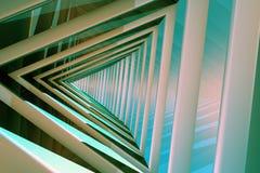 Triangle Tunnel. Design 3D Illustration Stock Photos
