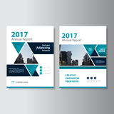 Triangle Vector annual report Leaflet Brochure Flyer template design, book cover layout design, Abstract presentation templates. Triangle blue Vector corporate Royalty Free Stock Photos