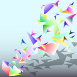 Triangle vectors background abstract colorful Stock Images