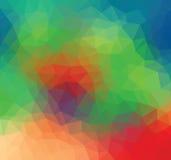 Triangle verte, bleue et rouge Photo stock