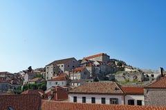 Triangle 1, vieille ville de Dubrovnik, Croatie de dessus de toit image libre de droits