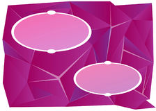 Triangle violet background with 2 oval frames Stock Photography
