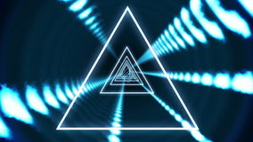 Triangle vortex design on black. Digital animation of Triangle vortex design on black stock footage