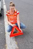 Triangle warning sign Royalty Free Stock Photos