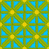 Triangle wavy green yellow and blue embossed Royalty Free Stock Photo
