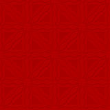 Triangle wavy red embossed seamless Royalty Free Stock Photos