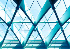 Triangle window. Office building detail with triangle window Stock Photography