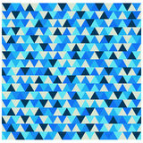 Triangle winter pattern, blue geometric background vector. Triangle winter pattern blue geometric texture Royalty Free Stock Photo