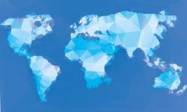 Triangle world map illustration Stock Images