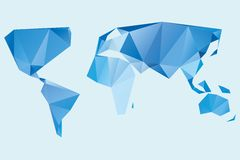 Triangle world map illustration Royalty Free Stock Photos