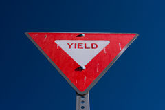 Triangle Yield Sign Royalty Free Stock Photos