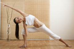 Triangle Yoga Pose Stock Images