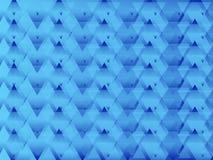 Triangled蓝色摘要 免版税库存照片
