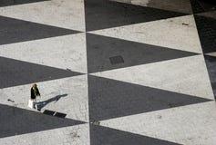 Triangled Quadrat Stockfoto