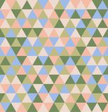 Retro geometric triangle seamless repeating background pattern. Mosaic of various shades stock illustration