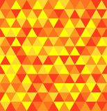 Retro geometric triangle seamless repeating background pattern in vector format. Mosaic of orange, yellow and red triangles in a seamless repeating background vector illustration