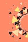 Triangles, étoiles et fond de modèle de cercle Images libres de droits
