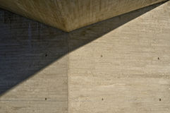 Triangles. The afternoon sun casts shadows on the wall triangular Royalty Free Stock Images