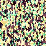 Triangles. Seamless geometric background with thiangles and noise, illustration Vector Illustration