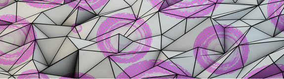 Triangles abstract background banner Royalty Free Stock Photos