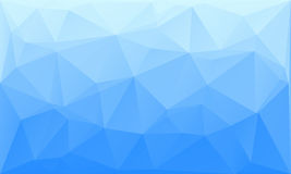 Triangles abstract background - blue white. Vector illustration Stock Photos