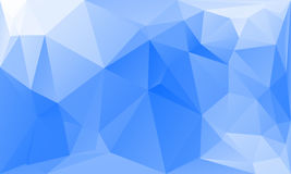 Triangles abstract background - blue white. Vector illustration Royalty Free Stock Image