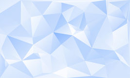 Triangles abstract background - blue white. Vector illustration Stock Photography