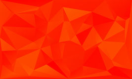 Triangles abstract background - fiery orange. Vector illustration Royalty Free Stock Photography