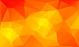 Triangles abstract background - fiery orange. Vector illustration Royalty Free Stock Images