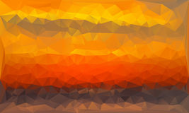 Triangles abstract background - sunset - vector. Illustration Royalty Free Stock Images