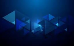Triangles abstraites et fond futuriste de concept de technologie illustration de vecteur