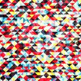 Triangles background. Bright geometric modern background,  illustration Stock Illustration